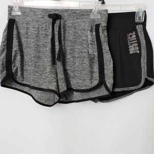 Girl's Justice Active Dolphin Shorts 2 Pairs 14/16